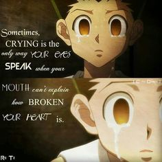Scenarios of you and some of the guys on the anime, hunter x hunter, … Hunter X Hunter, Hunter Anime, Sad Anime Quotes, Manga Quotes, Killua, Mood Quotes, True Quotes, Meaningful Quotes, Inspirational Quotes
