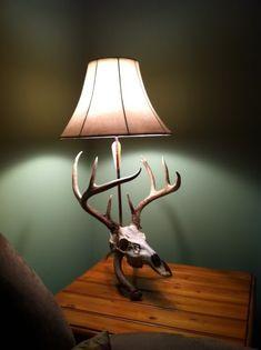 Man cave special, deer skull lamp