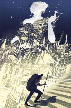 Europa & The Traveller by Miko Maciaszek