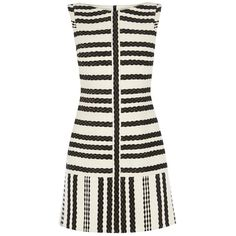 Karen Millen Stripe Shift Dress, Black/White (14,875 MKD) ❤ liked on Polyvore featuring dresses, sleeveless dress, striped shift dress, black and white dress, mini dress и sleeveless shift dress