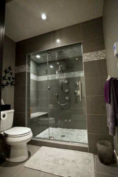 steam shower with bench.  Very similar to our set-up.