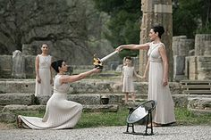 The Tokyo 2020 Olympics torch lighting ceremony in ancient Olympia will be the first in more 35 years to be held without spectators after organizers on Monday introduced tighter measures to protect against the coronavirus. 2004 Olympics, 2010 Winter Olympics, Tokyo Olympics, Ancient Olympics, Greece Mythology, Olympic Flame, Classical Greece, Tokyo 2020, Greece
