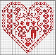Embroidery monogram patterns projects 25 Ideas for 2019 Embroidery Hearts, Embroidery Monogram, Cross Stitch Embroidery, Embroidery Patterns, Hardanger Embroidery, Cross Stitch Heart, Cross Stitch Samplers, Cross Stitching, Cross Stitch Designs