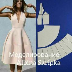 Este posibil ca imaginea să conţină: 1 persoană Fashion Sewing, Diy Fashion, Ideias Fashion, Fashion Dresses, Fashion Details, Dress Sewing Patterns, Clothing Patterns, Sewing Clothes, Diy Clothes