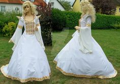 Medieval wedding dress by Azinovic.deviantart.com on @DeviantArt