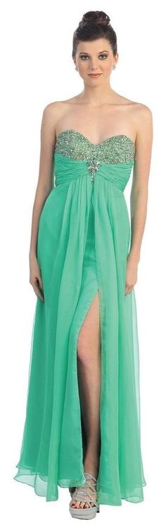 Long Formal Chiffon Dress Prom Special Occasion Gown - The Dress Outlet - 1