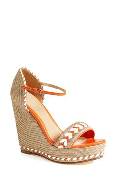 Gucci 'Tiffany' Wedge Sandal (Women) available at #Nordstrom