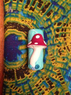 Woodland mushroom dread bead. $3.00, via Etsy.