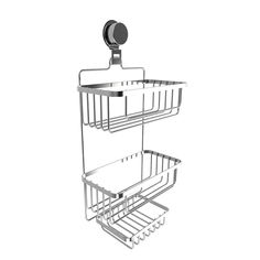 Wall Mounted 3 Tier Shower Caddy- Hanging Shower Storage Rack for Bathroom Space Saving with Stainless Steel Twist Lock Suction Cup by Somerset Home Shower Storage, Shower Shelves, Windsor Homes, Bathroom Caddy, Bathroom Hooks, Bathtub Accessories, Glazed Ceramic Tile, Bathtub Shower, Storage Rack