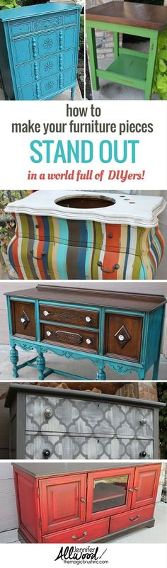 I can help you make more money selling painted furniture in a world of DIYers! In this training webinar, I share all my tips and tricks for making more money with your creative talents. by Jennifer Allwood Refurbished Furniture, Paint Furniture, Repurposed Furniture, Furniture Projects, Furniture Making, Furniture Makeover, Diy Projects, Refinished Desk, Repurposed Doors