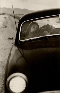 Robert Frank  U.S. 90, en route to Del Rio, Texas  1955 | road trip | car | road | desert | long haul | vintage car