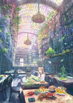 Anime fantasy world Art Manga, Art Anime, Anime Art Fantasy, Anime Artwork, Manga Anime, Fantasy Art Landscapes, Fantasy Landscape, Fantasy Places, Fantasy World