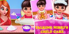 #TalkingBabyGame Spend your whole day with the most entertaining time by playing Talking Nikki's #ChildCareGame.