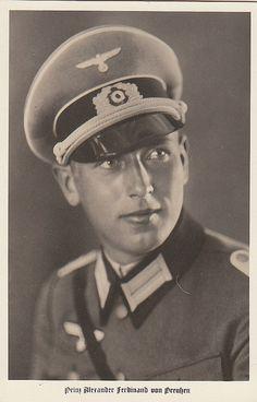 Prinz Alexander Ferdinand von Preussen in Uniform Ferdinand, Germany Ww2, The Third Reich, Thing 1, German Army, Victoria, European History, World War Ii, Wwii