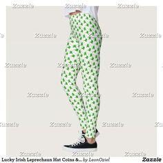 Shop Lucky Irish Leprechaun Hat Coins & Clover Leggings created by LeonOziel. Irish Leprechaun, Leprechaun Hats, Gym Leggings, Leggings Fashion, Fitness Inspiration, Workout Inspiration, Gym Style, Running Tights, Look Cool