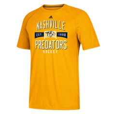 bae3fc6f3d8 Men's adidas Nashville Predators Shot Caller Short Sleeve T-Shirt (Gold)