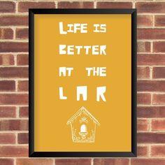 Pôster Life Lar decor casa amor amarelo