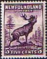Newfoundland 1932 SG 225c Reindeer Die II Fine Mint                    SG 225c Scott 191 Other Canadian Stamps Here