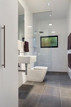 Modern bathroom at Aireys Inlet