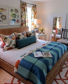 I love the way this bed is made, I am going to make all the beds in the house this way hotel chic!