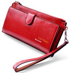 New 2015 Women Wallets Genuine Leather Purses Long Wallet Women Elegant Female Red Clutch Wallets Woman Leather Wallet Purse