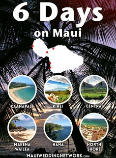 Maui is consistently ranked one of the top places in the world for honeymoons and destination weddings. Here's a 6 day itinerary for your trip. Maui Hawaii, Kauai, Kaanapali Maui, Visit Hawaii, Hawaii Life, Kahului Maui, Hawaii 2017, Lahaina Maui, Hawaiian