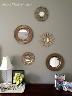 Home Made Modern: Tightwad Tuesday: Sunburst Mirrors for $8