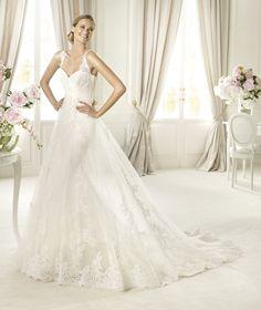 Pronovias presents the Petunia wedding dress, Costura 2014. | Pronovias. Really like something like this!!