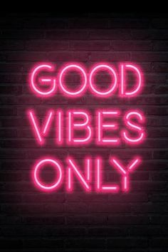 size: Art Print: Good Vibes Only - Pink Neon : Neon Aesthetic, Aesthetic Collage, Aesthetic Vintage, Pink Tumblr Aesthetic, Music Aesthetic, Aesthetic Bedroom, Bedroom Wall Collage, Photo Wall Collage, Picture Wall