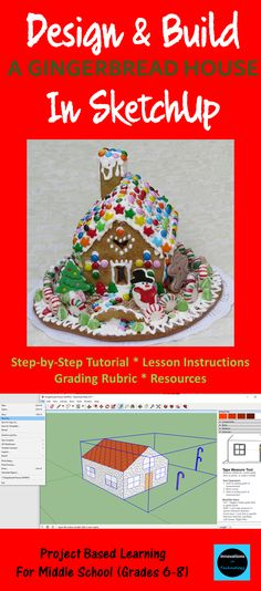 "The ""Designing & Constructing a Gingerbread House"" project utilizes teamwork and Sketchup (free CAD software download) to allow students to design and build a gingerbread house to scale. Students work individually to create a scale model drawing of a gingerbread house using Sketchup (CAD) and then brainstorm with their team to determine the best design to build from provided materials with the goal of building the most attractive and creative gingerbread house. Two options are given for…"