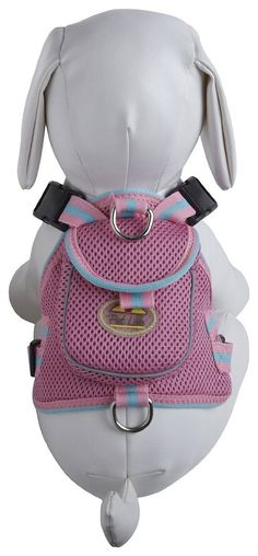 Mesh Pet Harness With Pouch - Pink (HA1PW~MD) - HAVE