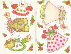 Vintage Unused Strawberry Shortcake Paper Doll Card Christmas Am Greetings | eBay