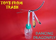 Toys from Trash - tutorial and template to make numerous dragonflies - with video link