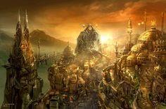 Caldeum Sunset, uno de los increíbles escenarios de Diablo III