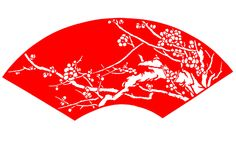Chinese Paper Cut - Wintersweet Flower