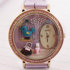 REF.42 Reloj con mini-figuras en 3d porcelana fría.  100% originales, garantía 1 año