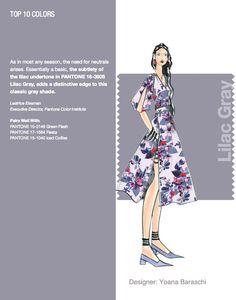 NYFW Pantone Color Report. Top 10 Colors - Lilac Gray. Designer: Yoana Baraschi