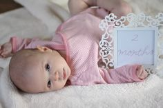 Monthly Baby Photos | Aniston is 2 Months Old - Coordinately Yours by Julie Blanner entertaining & design that celebrates life