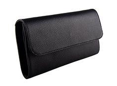 "SLINGBAG ""Ela"" Clutch   Abendtasche   Handtasche aus echtem Leder in schwarz"