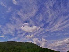 Beautiful Sky and Clouds sky with clouds on Mt. Cetona Tuscany