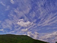 Beautiful Sky and Clouds sky with clouds on Mt. Cetona Tuscany