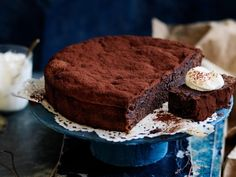 Served with hazelnut whipped cream, this chocolate, prune and hazelnut cake is dense, decadent and gluten-free.