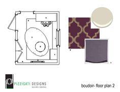 Eco Chic Project Update: Long Island Dream Home...Fierce Feminine Boudoir Design! #interiordesign #ecofriendly #homedesign #projectupdate #PizzigatiDesigns #color #contemporary #NYC #surya #wayfair #surya #bold #purple
