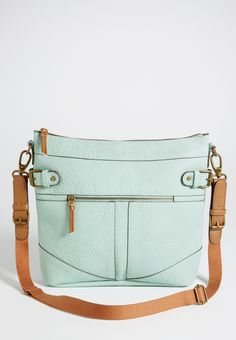 cross body bag with contrast strap in misty morning (original price, $34.00) available at #Maurices