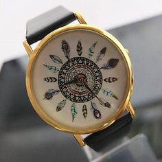 2014 Geneva Watch Fashion and Personality Custom-made Peacock Feathers Pattern Watch – USD $ 15.99