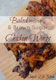 These easy and delicious baked honey and brown sugar BBQ chicken wings are a quick party fix that will leave them drooling. Homemade and healthy BBQ recipe.