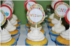Music Themed 1st Birthday Party cake toppers