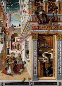 'The Annunciation, with Saint Emidius' by Venetian painter Carlo Crivelli Egg and oil on canvas, x in. ty, Marinni on live journal. via The National Gallery, London Ancient Aliens, Ancient Art, Ufo, Evidence Of Aliens, Ancient Astronaut Theory, Renaissance Kunst, Italian Renaissance, Art Antique, Old Paintings