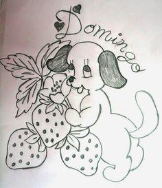 desenho da semaninha do cachorrinho com frutas - domingo