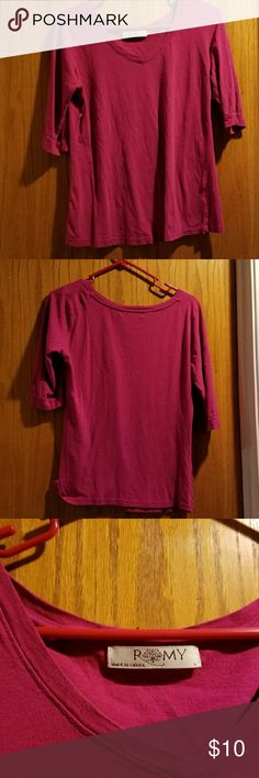 Magenta Romy Long Sleeved Shirt Great condition Romy Tops Tees - Long Sleeve